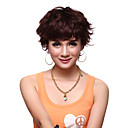 Capless Short 100% Human Hair Brown Curly Charming Hair Wig