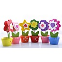 Assorted Flower Pot Placecard Holders (Set of 6)