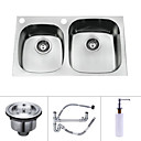 28 inch Undermount Stainless Steel Kitchen Sink (Double bowl)
