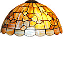 Tiffany Style Shell Wall Light with Floral Pattern