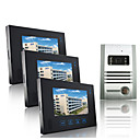 Wired Intercom 7 Inch Touch Screen Video Door Phone with Metal Camera (1 Camera To 3 Monitors)