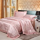Tencel Pink 4-piece Full / Queen Duvet Cover Set