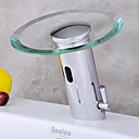 Waterfall Bathroom Sink Faucet with Hydropower Automatic Sensor (Hot and Cold)