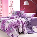 Super Soft Velour Romantic 4-piece Full Duvet Cover Set