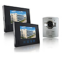 Wired Intercom 7 Inch Touch Screen Video Door Phone with ABS Camera (1 Camera To 2 Monitors)