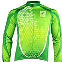 Santic - Men's Cycling Jacket  With 100% Polyster Winter 2011 Green Color
