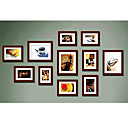 Brown Photo Wall Frame Collection - Set of 11