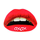 "5 stuks rood ""xoxo"" temporaty lip tattoo sticker"