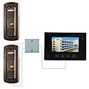 7 Inch Touch Screen Video Door Phone (Pinhole Camera, Support 2 Doors)
