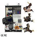 3 Kit main de Damas pistolet de tatouage alimentation avec cran LCD
