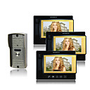 Color Video Door Phone Kit (7 Inch Color LCD Screen, 3 Indoor Screen)