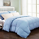 Twin/Full/Queen-size Solid Cotton Satin 300 Thread Count Down Comforter