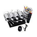 4CH DVR kit avec la construction dans carte sd 4 pcs DVR camra tanche (1 / 3 &quot;couleur CCD de Sony)