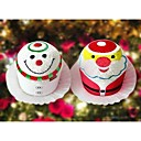 Santa Claus & Snowman Cake Towel (Set of 2)