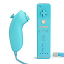 2-in-1 MotionPlus tlcommande et le Nunchuk pour Wii / Wii U (Bleu)