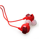 Noise Isolation In-Ear Stereo Earphones Red(3.5mm Jack / 112cm Cable)