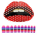 5 Pcs Lip Tattoo and 10 Pcs Nail Stickers