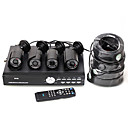 DVR Kit with 4 IR Night Vision Waterproof 1/3''SONY CCD Cameras + 4x20M BNC to BNC Cables