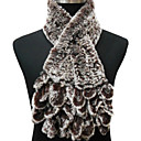 Top Seller – Fur Scarf with Ringlets In Frosted Brown Rex Rabbit Fur