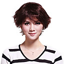 Capless Short 100% Human Hair Wavy Hair Wig