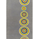 Acrylic Tufted Area Rugs with Yellow Featured Circle Pattern
