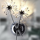 NIPOMO - Wandlampe Floral aus Kristall mit 2 Glhbirnen
