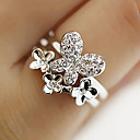 Bow Faux Diamond Ring