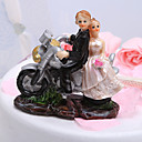 Motorcycle Bride &amp; Groom Wedding Cake Topper