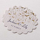 Personalized Scalloped Favor Tag – Vine (Set of 60)