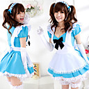 Cute Girl Blue Polyester Maid Suit (4 Pieces)