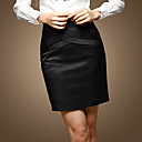Professional Shaped Crossed Design Pencil Skirt