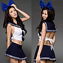 Hot Girl Ink Blue Polyester Sailor Suit (2 Pieces)