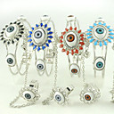 Wide Eye Ring And Bracelet With Chain (More Colors)