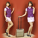 im chinesischen Stil lila Polyester Stewardess Uniform (2 Stck)