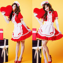 Lovely Girl Red Polyester Maid Suit (4 Pieces)