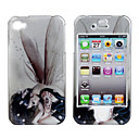 Protective Smooth Polycarbonate Back and Front Case for iPhone 4 and iPhone 4S (Tattooed Girl and Wing)