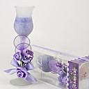 Lilac Rose Glass Candle Holder