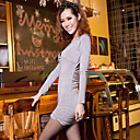 Deep V-neck Backless Long Sleeve Slim Dress