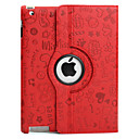 Etui en Cuir PU avec Support pour iPad 2, Rotation  360 Degrs - Couleurs Assorties