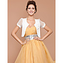 Short Sleeve Chiffon/ Cotton With Flowers/ Botton Bridal Jackets/ Wraps