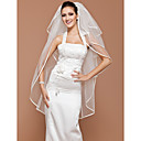 Four-tier Tulle Fingertip Wedding Veil With Ribbon Edge (More Colors Available)