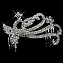 Alloy With Rhinestone And Pearl Phoenix Bridal Comb