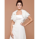 Short Sleeves Faux Fur Special Occasion/ Wedding Jacket/ Wrap