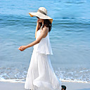 Ruffle Edge Bohemian White Dress