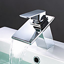 Brass Waterfall Bathroom Sink Faucet