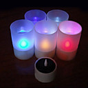 Solar Powered LED Rechargeable Color Changing Flameless Lights Candle