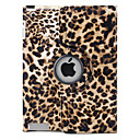 Leopard Print 360 Degree Rotating PU Leather Case & Stand for iPad 2/3/4 (Brown)