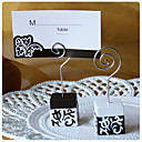  Black and White Damask Design Place Card Holders(set of 4)