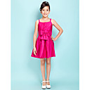 A-line Spaghetti Straps Short/Mini Taffeta Junior Bridesmaid Dress