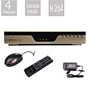 4 Channel DVR CCTV Security System (500G HardDisk, Network View,VGA Output)